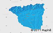 Political Map of Gorj, single color outside