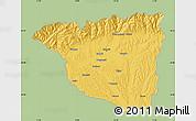 Savanna Style Map of Gorj, single color outside