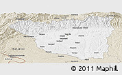Classic Style Panoramic Map of Gorj