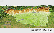 Physical Panoramic Map of Gorj, satellite outside