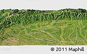 Satellite Panoramic Map of Gorj