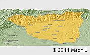 Savanna Style Panoramic Map of Gorj