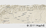 Shaded Relief Panoramic Map of Gorj