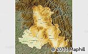 Physical Map of Harghita, darken