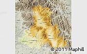 Physical Map of Harghita, semi-desaturated