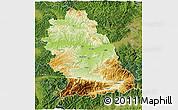 Physical 3D Map of Hunedoara, satellite outside