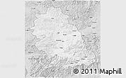 Silver Style 3D Map of Hunedoara
