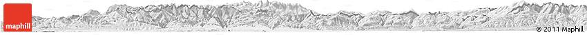 Silver Style Horizon Map of Hunedoara