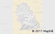 Classic Style Map of Hunedoara, single color outside