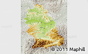Physical Map of Hunedoara, lighten, semi-desaturated