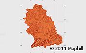 Political Map of Hunedoara, cropped outside