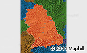 Political Map of Hunedoara, darken