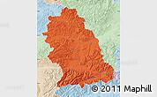 Political Map of Hunedoara, lighten