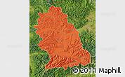 Political Map of Hunedoara, satellite outside