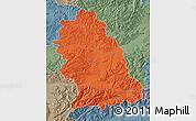 Political Map of Hunedoara, semi-desaturated