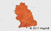 Political Map of Hunedoara, single color outside