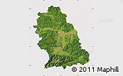 Satellite Map of Hunedoara, cropped outside