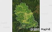Satellite Map of Hunedoara, darken