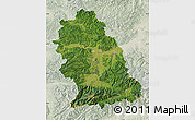 Satellite Map of Hunedoara, lighten