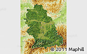Satellite Map of Hunedoara, physical outside