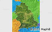 Satellite Map of Hunedoara, political outside