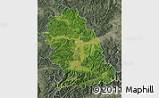 Satellite Map of Hunedoara, semi-desaturated