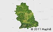 Satellite Map of Hunedoara, single color outside