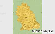 Savanna Style Map of Hunedoara, single color outside