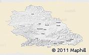 Classic Style Panoramic Map of Hunedoara, single color outside