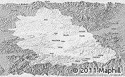 Gray Panoramic Map of Hunedoara