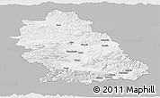 Gray Panoramic Map of Hunedoara, single color outside