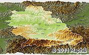Physical Panoramic Map of Hunedoara, darken