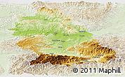 Physical Panoramic Map of Hunedoara, lighten