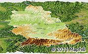 Physical Panoramic Map of Hunedoara, satellite outside