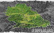 Satellite Panoramic Map of Hunedoara, desaturated