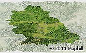 Satellite Panoramic Map of Hunedoara, lighten