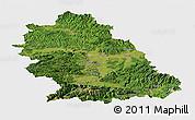 Satellite Panoramic Map of Hunedoara, single color outside