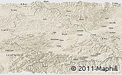 Shaded Relief Panoramic Map of Hunedoara