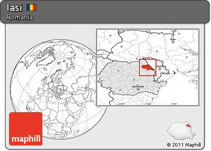 Map of Iasi, Romania