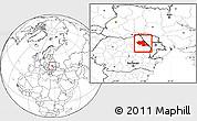 Blank Location Map of Iasi