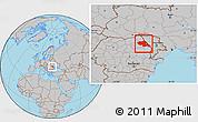 Gray Location Map of Iasi