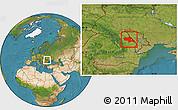 Satellite Location Map of Iasi