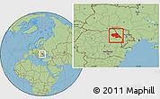 Savanna Style Location Map of Iasi