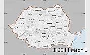 Gray Map of Romania, single color outside
