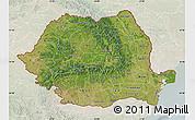 Satellite Map of Romania, lighten