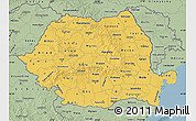 Savanna Style Map of Romania