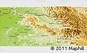 Physical 3D Map of Maramures