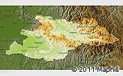 Physical Map of Maramures, darken