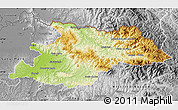 Physical Map of Maramures, desaturated