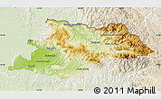 Physical Map of Maramures, lighten